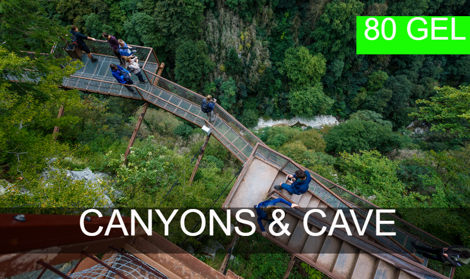 Canyons and Caves tour from Kutaisi