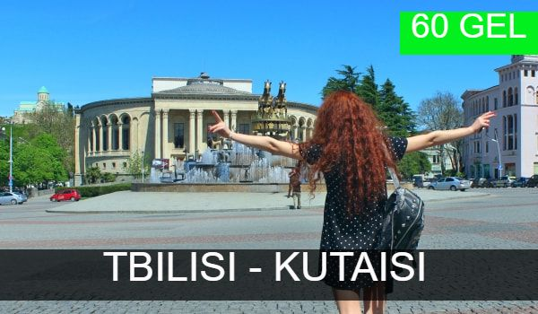 Bus transfer from Tbilisi to Kutaisi