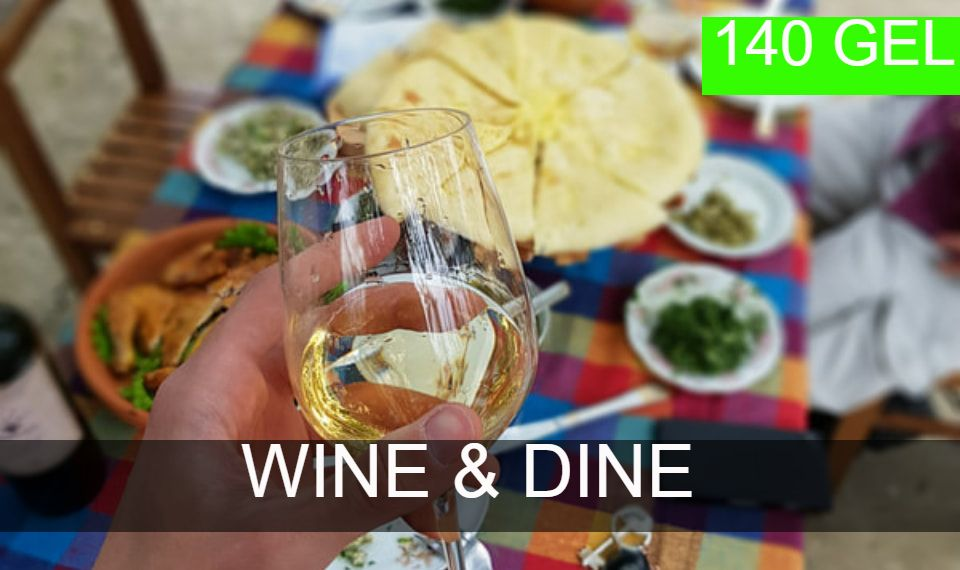 Wine and dine tours from Kutaisi